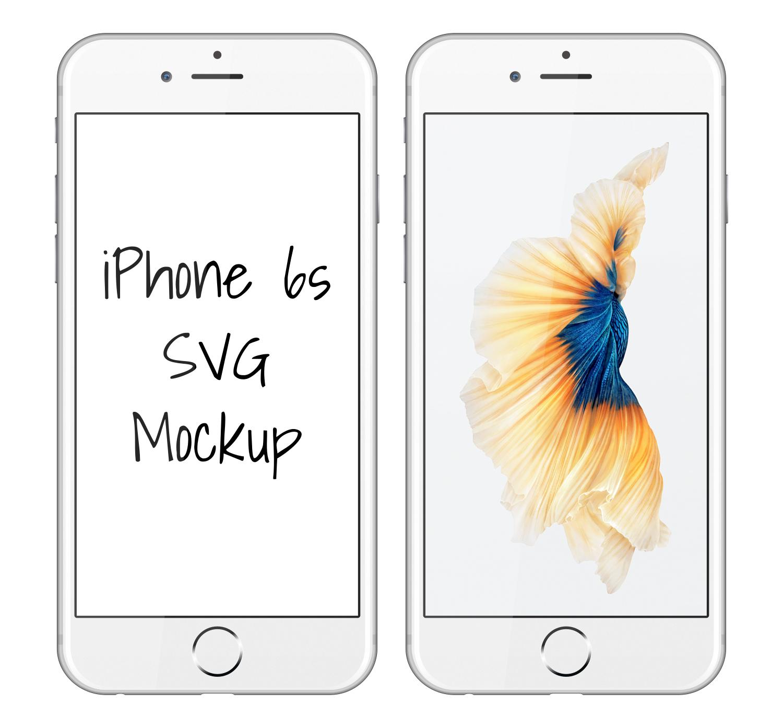 IPhone 6S SVG Mockup