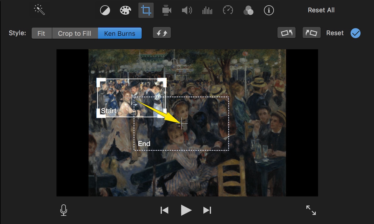 How to Create a Smooth Ken Burns Effect Sequence in iMovie ...